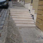 Budapest Franklin utca budakalászi mészkő lépcső