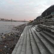 Budapest Rakpart Budakalászi mészkő lépcső